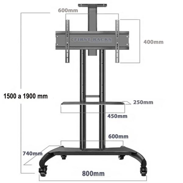 rack pedestal led lcd
