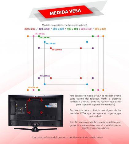 Como medir la Vesa de su TV
