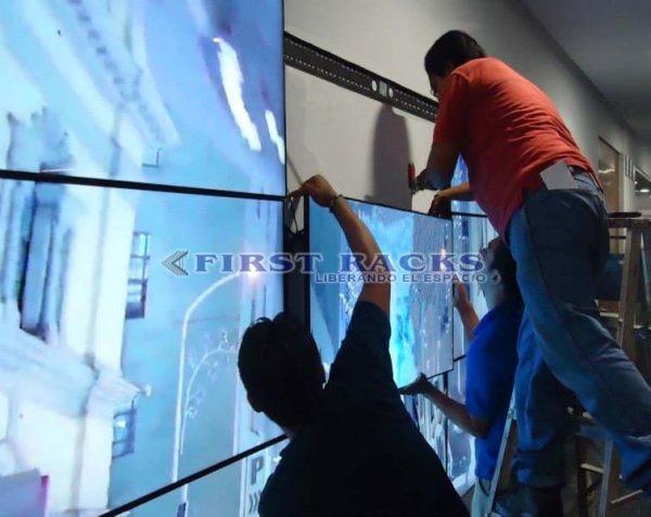 rack video wall instalación