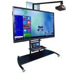 rack pizarra tv pedestal